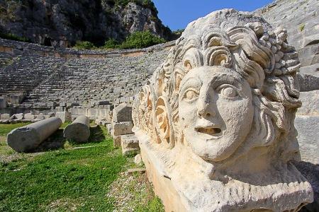 Statue in Myra, Lykien, Türkei